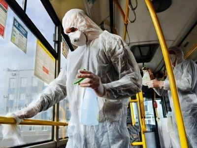 обработка автобусов от коронавируса фото