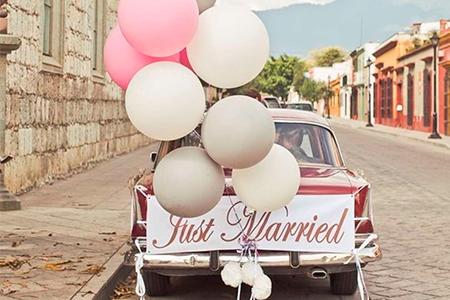 украшение свадебного кортежа фото